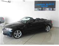 2009 BMW 1 SERIES 135i cabriolet sports pack. black on black.