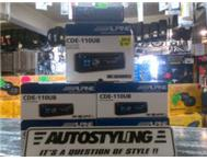 AUTOSTYLING-EAST LONDON/PE-BRAND NEW ALPINE USB/CD/RADIO-R799
