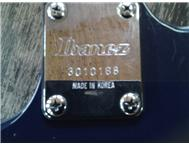 Ibanez CT Series Blue and White Guitar