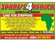 need any spares ? try SPARES FOR AFRICA