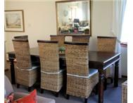Upmarket 8 seater dining table and 8 chairs