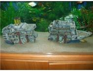 LARGE 2 Piece Ship Wreck for Fish Tank