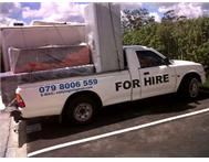 RELIABLE BAKKIE FOR HIRE.