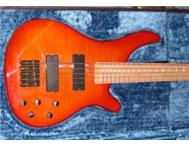 Custom built 5 string bass by UK Luthier