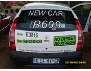 Drive a New Car from only R599 per month!!!