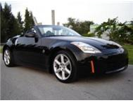 RENT A BLACK NISSAN 350Z ROADSTER CONVERTIBLE (@R1250 p/day!!!!