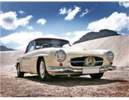 Vintage Classic Mercedes Benz 190 SL Convertable Collectors item