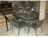6 chairs plus table garden set