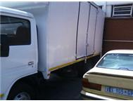 4 ton Nissan diesel closed body truck available for contract
