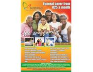 funeral cover from as little as R80 for 10 members