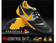 Nike 5 Bomba Indoor Soccer Boot Black/Yellow