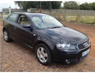 2005 AUDI A3 2.0 FSI A/C P/S E/W LEATHER SEATS MAGS 6 SPEED.FUEL