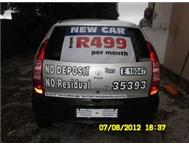 GET A NEW CAR NOW FROM ONLY R499.00 P.M.