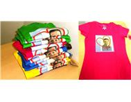 T-Shirts printed with your own design or picture!