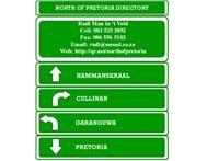 North Of Pretoria Directory Merchandising in Business Management Services Gauteng Pretoria North - South Africa
