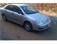 2003 Toyota Corolla 140i GLE for R60 000