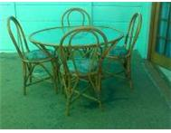 5 Piece Cane Patio dining set R1 000 Western Cape