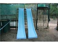 Slides swings jungle gyms