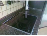 DEFY SLIMLINE 4PLATE GLASS TOP HOB AND BOTTOM OVEN