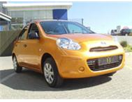 Drive and own a demo Nissan Micra 1.2 Visia from R 999 p/m