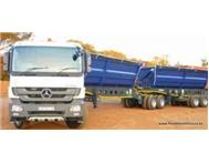 34 tons side tipper trucks wanted