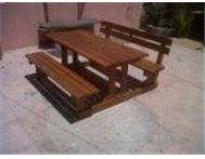 patio table/bench sets
