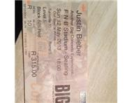 Justin Bieber Ticket 1left