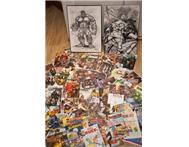 Comic books and stunning marvel A2 drawings