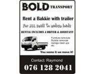 Bakkie trailer & labour hire Gauteng