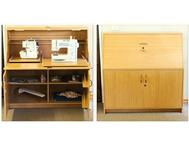 Bernina Sewing Machine & Overlocker both in tidy wooden cabinet