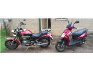 Lx250-8cc cruiser and 150cc sym2 urgent sale