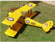 Scale 1.2 meter W/span Tiger Moth R/C model aircraft with glow motor.