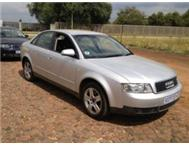 2002 AUDI A4 2.0 MULTITRONIC A/C P/S E/W LEATHER SEATS MAGS BARG