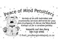Pet Sitters Johannesburg (West Rand)