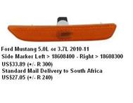 Ford Mustang 5.0L Or 3.7L 2010-11 Side Marker Left/Right in Car Spare Parts Eastern Cape Bisho - South Africa