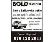 Bakkie trailer & labour hire