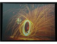 A Photo of an effect I created with Burning Steel-Wool printed on Canvas Material.