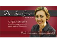DR ANA S 5 X WEEK PUBLIC SPEAKING COURSE & INTERACTIVE WORKSHOP