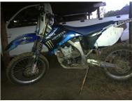 YZ 450 F used on farm. Not raced. Excellent cond. Hyde covers