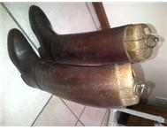 Antique or vintage horse riding boots