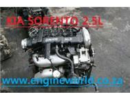 Kia sorento 2.5L Crdi engine used/imported