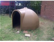2x Large dog dome kennels for sale. UV Resistant.