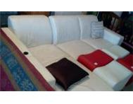 Genuine Leather L shaped lounge suite Port Elizabeth