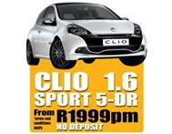 2011 Renault Want To Purchase A Car - 1.6 Clio Sport From R1999pm - No Deposit Must Be Clear On ITC
