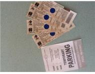 4 Nedbank Cup Final tickets (suits) A Parking ticket