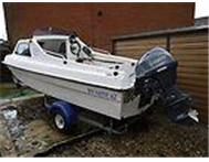 Virgo Angler 14ft Fishing Boat With Outboard And Trailer