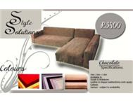 Chocolate L-Shape for R3800 FREE matching ottoman!